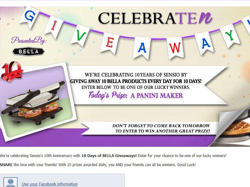 BELLA CelebraTEN Giveaway