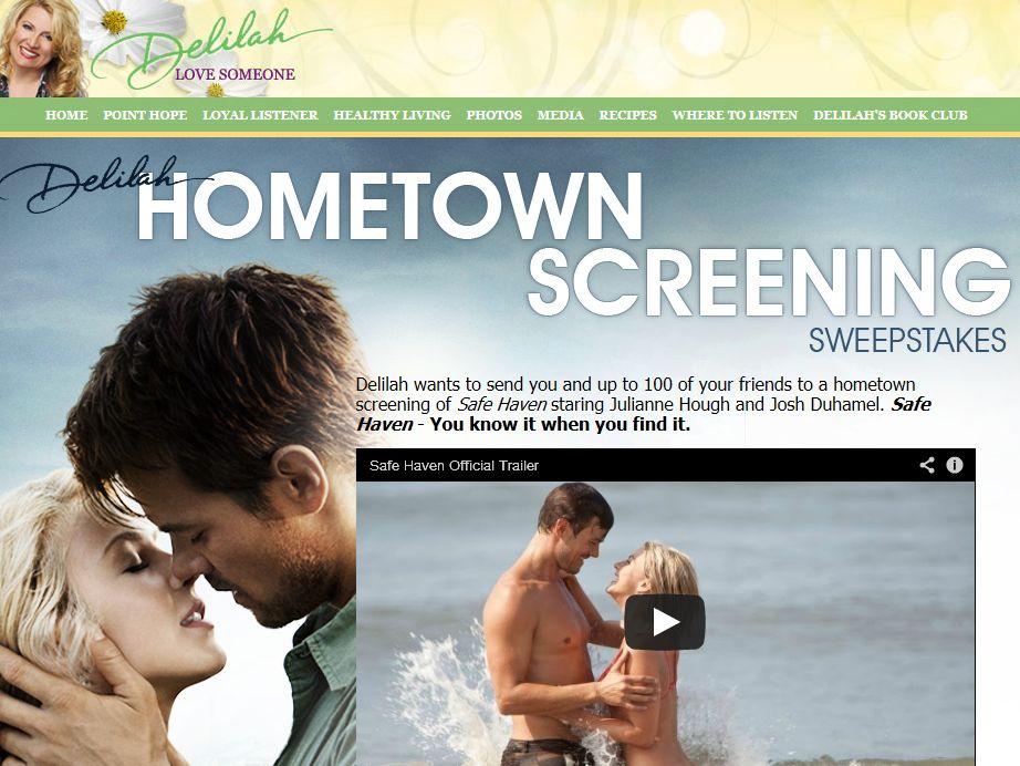 Delilah Hometown Screening Sweepstakes