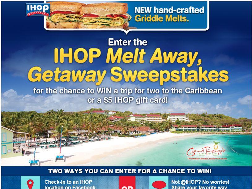 IHOP Melt Away, Getaway Sweepstakes