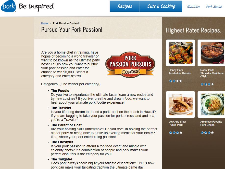 Pork Passion Pursuit Contest
