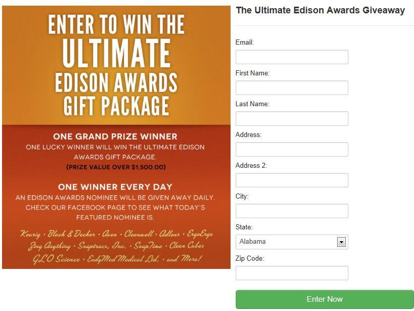 Ultimate Edison Awards Giveaway Sweepstakes