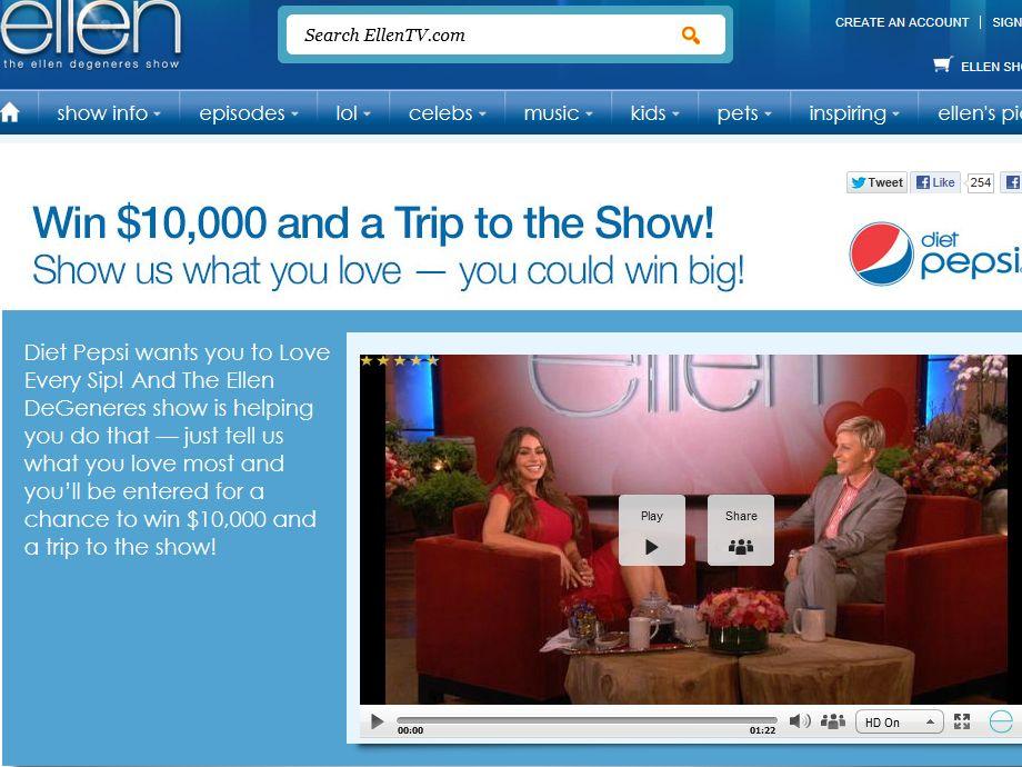 Diet Pepsi Love Every Sip Contest