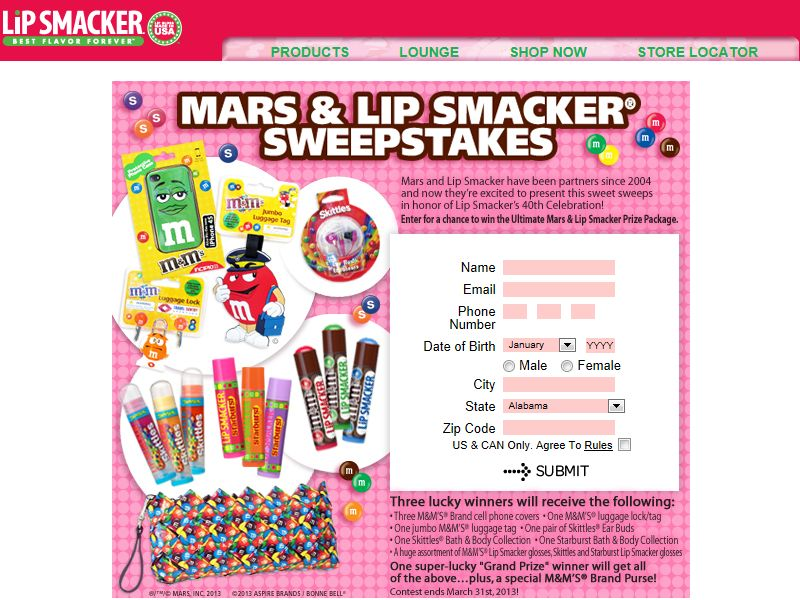Lip Smacker Sweepstakes
