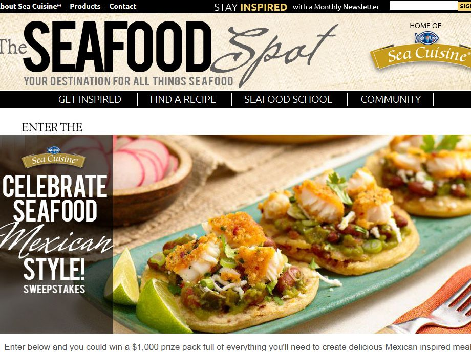 High Liner Sea Cuisine Celebrate Seafood Mexican Style Sweepstakes