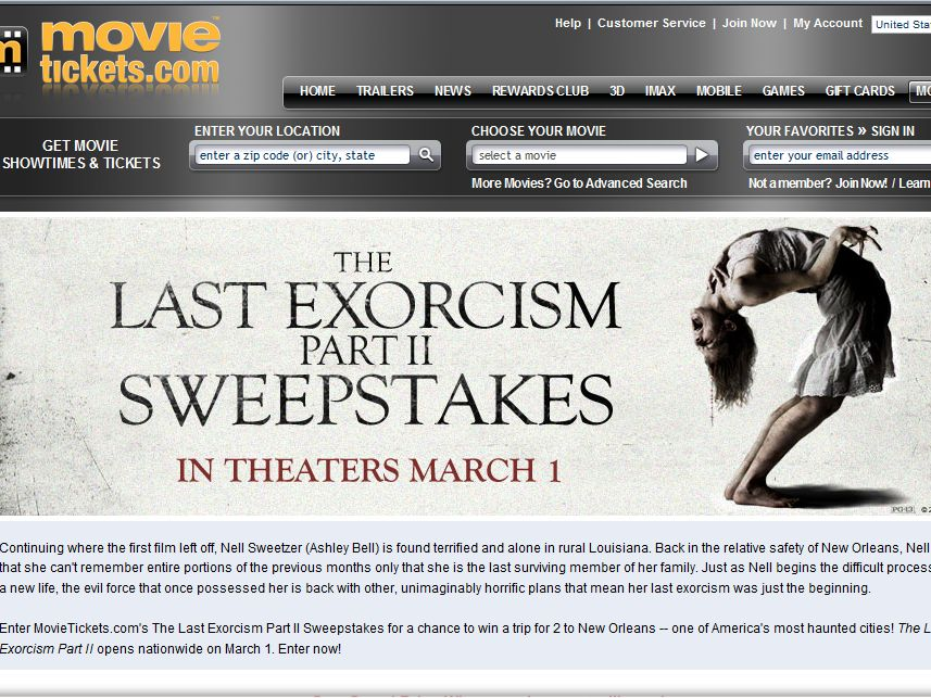 The Last Exorcism Part II Sweepstakes