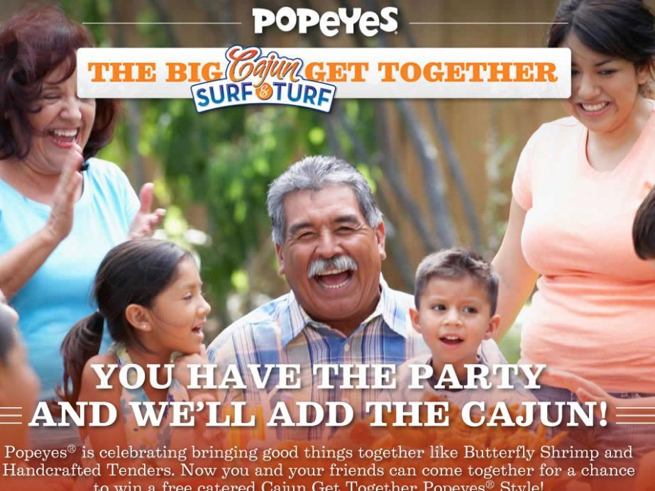Popeyes Cajun Surf & Turf Promotion