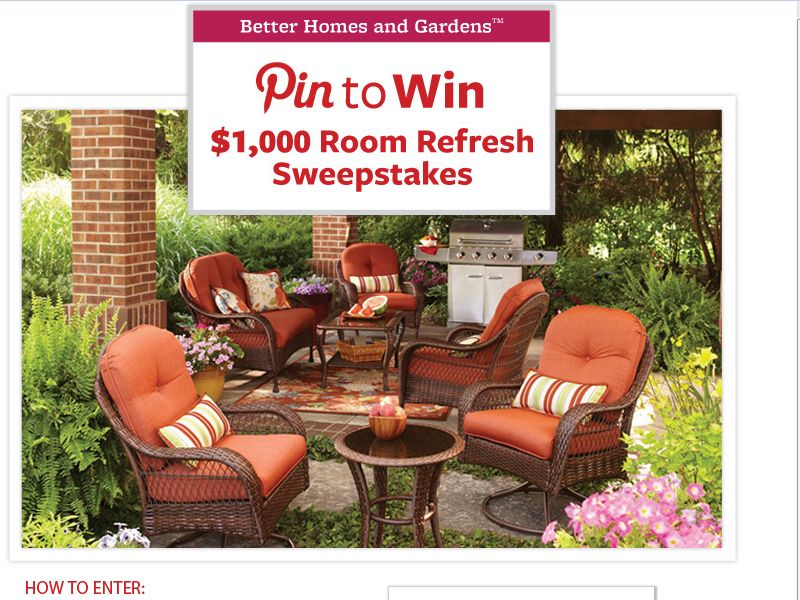 BHG @ Walmart Room Refresh Pin to Win Sweepstakes