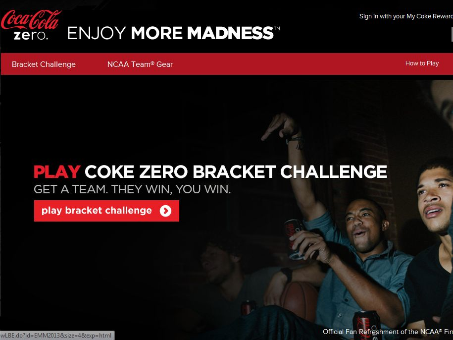 Bracket challenge sweepstakes
