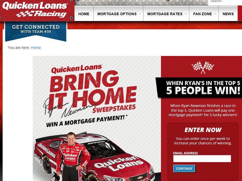 Quicken Loans Racing Bring It Home Sweepstakes