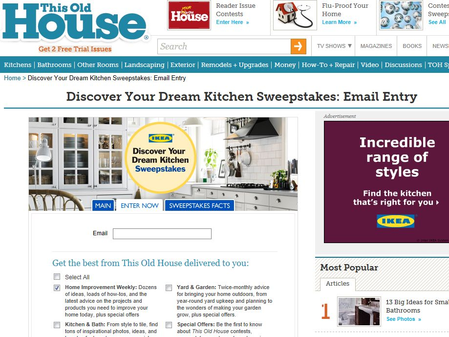 IKEA This Old House Discover Your Dream Kitchen Sweepstakes