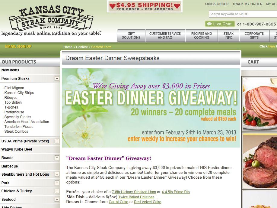 Kansas City Steak Company Easter Dinner Giveaway