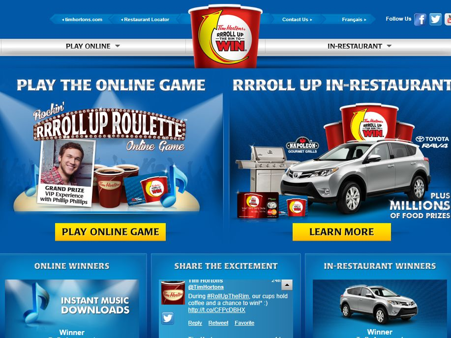 Rockin' RRRoll Up Roulette Online Contest
