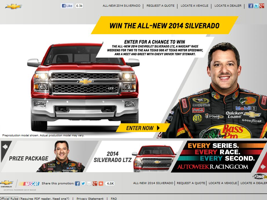 Win The New Silverado Racing Promotion Sweepstakes