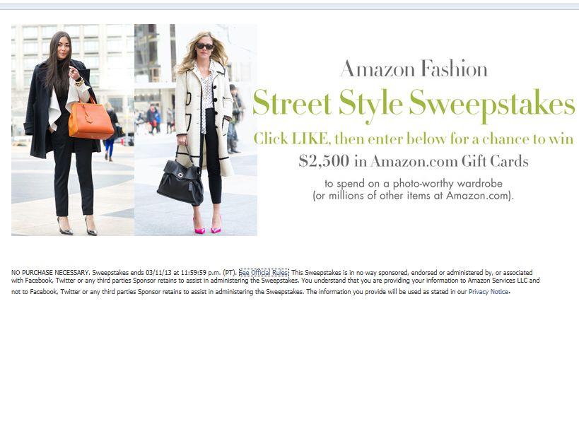 Amazon Fashion Street Style Sweepstakes