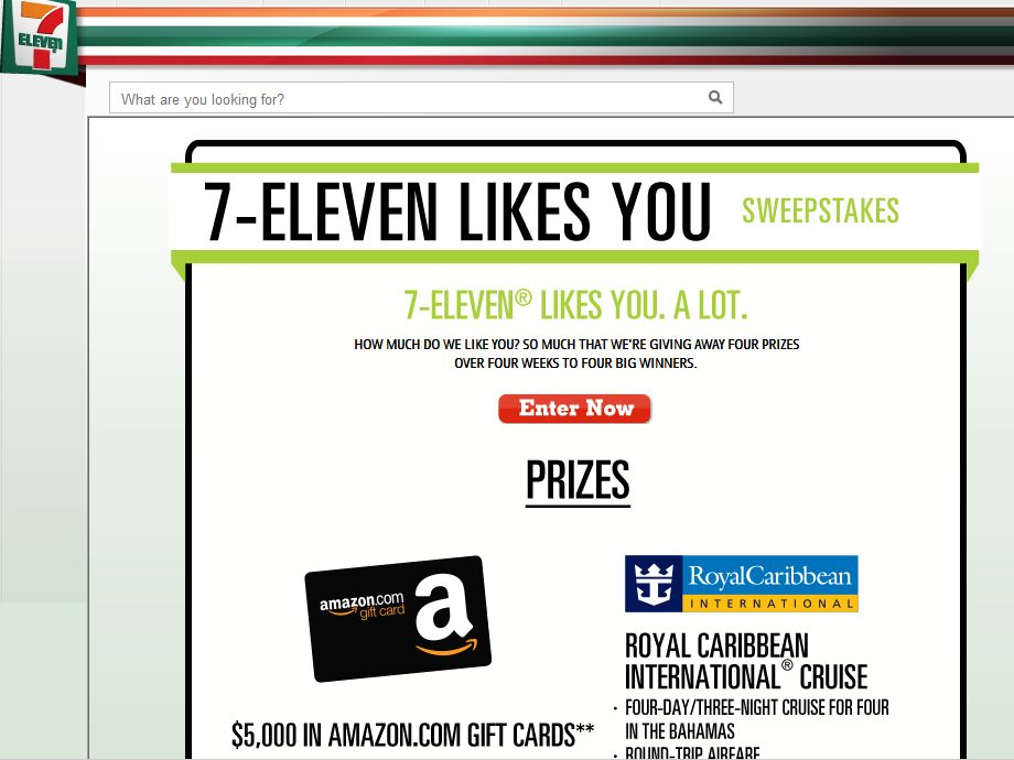 7 Eleven Likes You Sweepstakes
