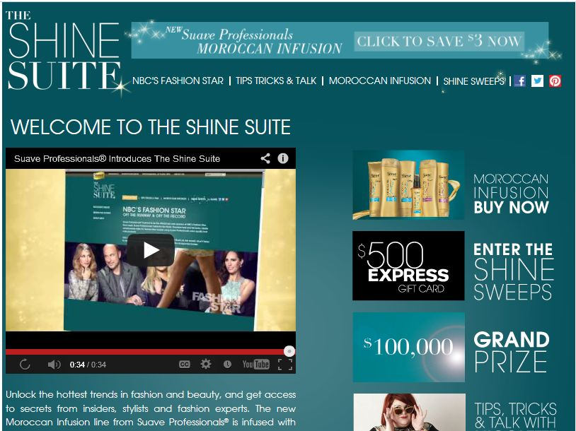 Suave Shine Suite Sweepstakes