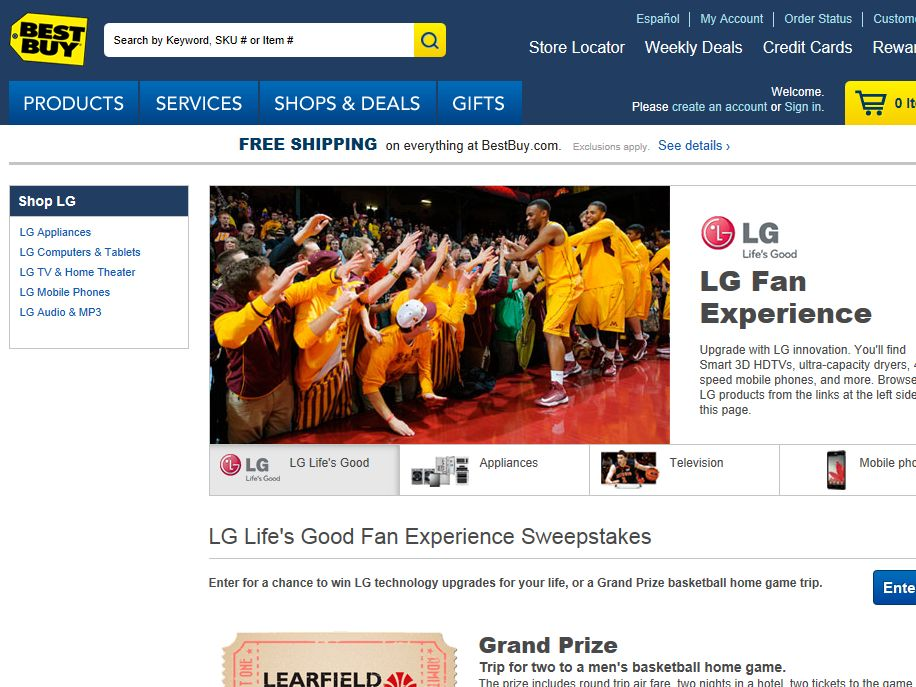 LG Life's Good Fan Experience Sweepstakes