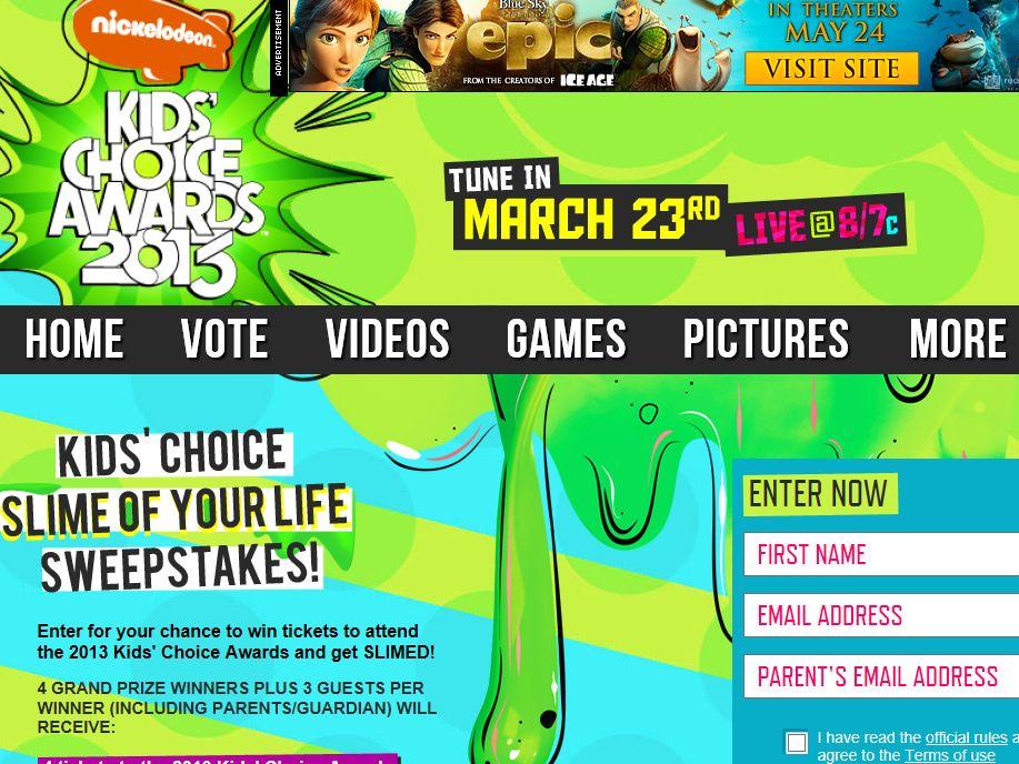Kids' Choice Slime of Your Life Sweepstakes