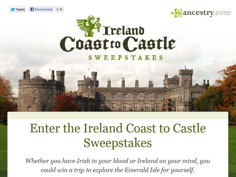 Ancestry.com Irish Heritage Sweepstakes