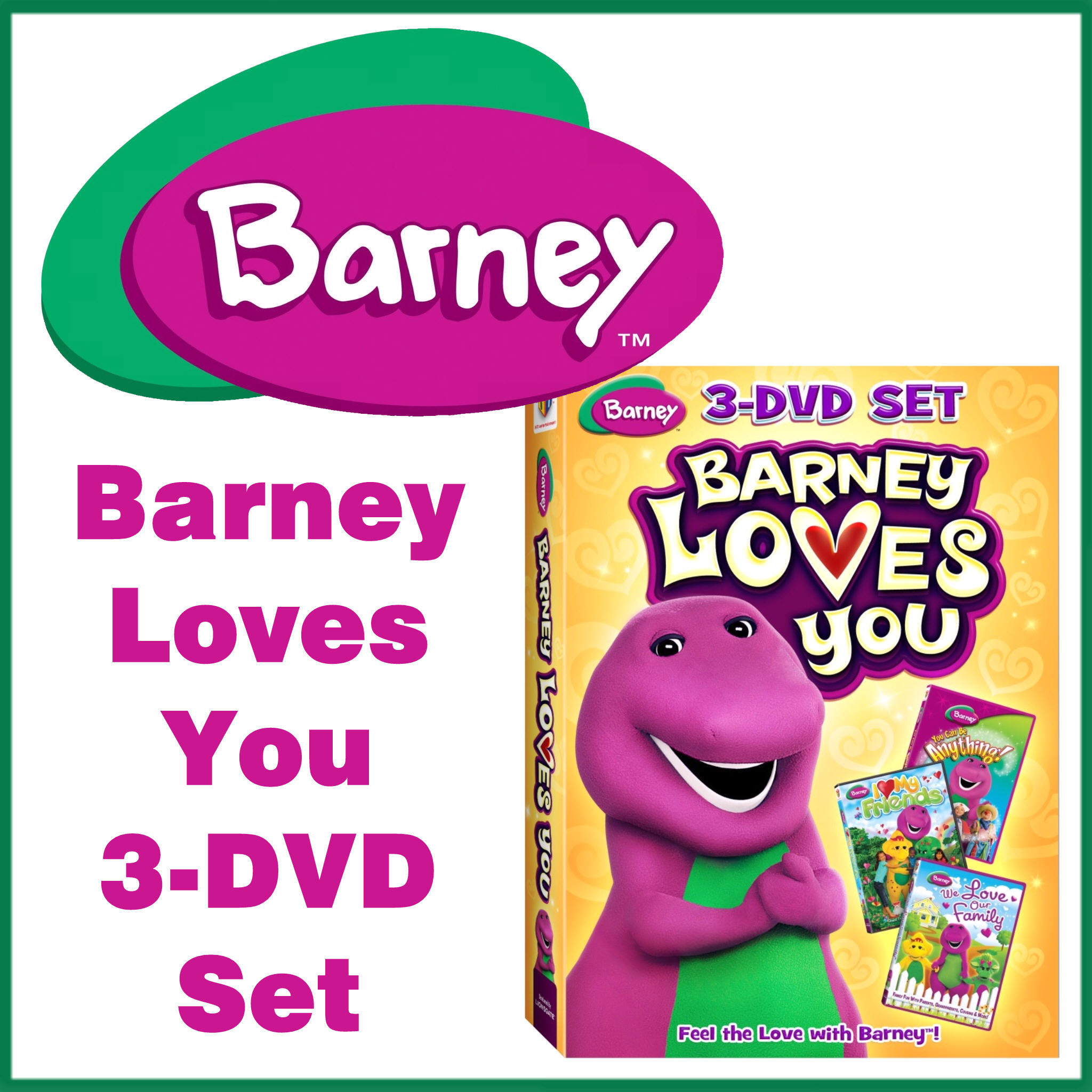 Royalegacy Reviews & More Giveaway – Barney Loves You 3-DVD Set