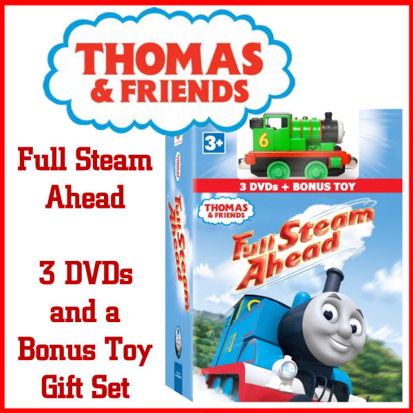 Royalegacy Reviews & More Giveaway – Thomas and Friends: Full Steam Ahead 3-DVD Gift Set with Toy