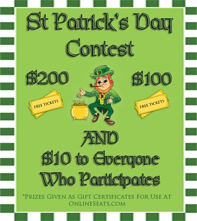 OnlineSeats.com — St. Patrick's Day Contest – Over $300 Giveaway