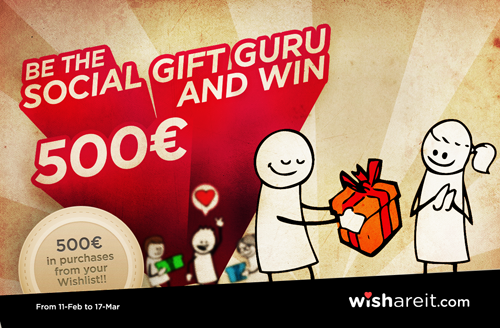 Wishareit GIFT GURU Contest – Win 500€ in online shopping