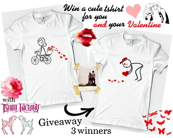 Tshirt Factory Love -3 winnersX2 tshirts each