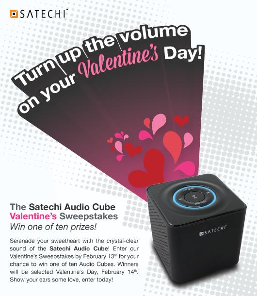 Satechi Audio Cube Valentine's Sweepstakes
