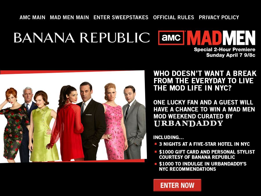 Mad Men Mod Weekend Sweepstakes