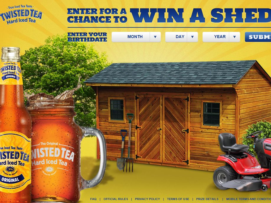 Twisted Tea Twist Up Your Shed Sweepstakes