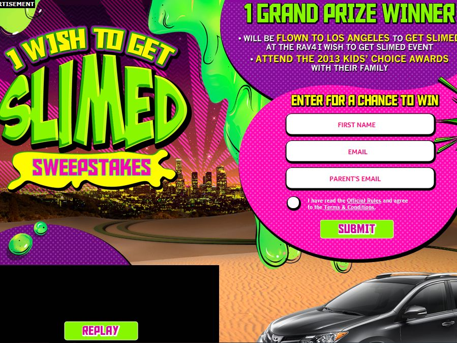 Nickelodeon I Wish To Get Slimed Sweepstakes