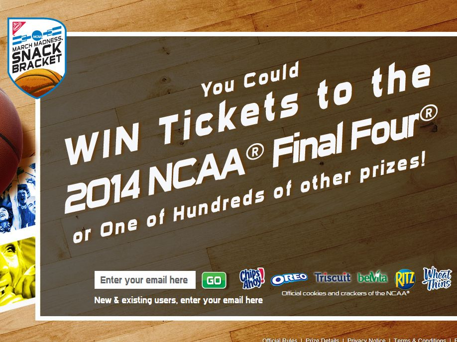 Nabisco NCAA March Madness Snack Bracket Sweepstakes