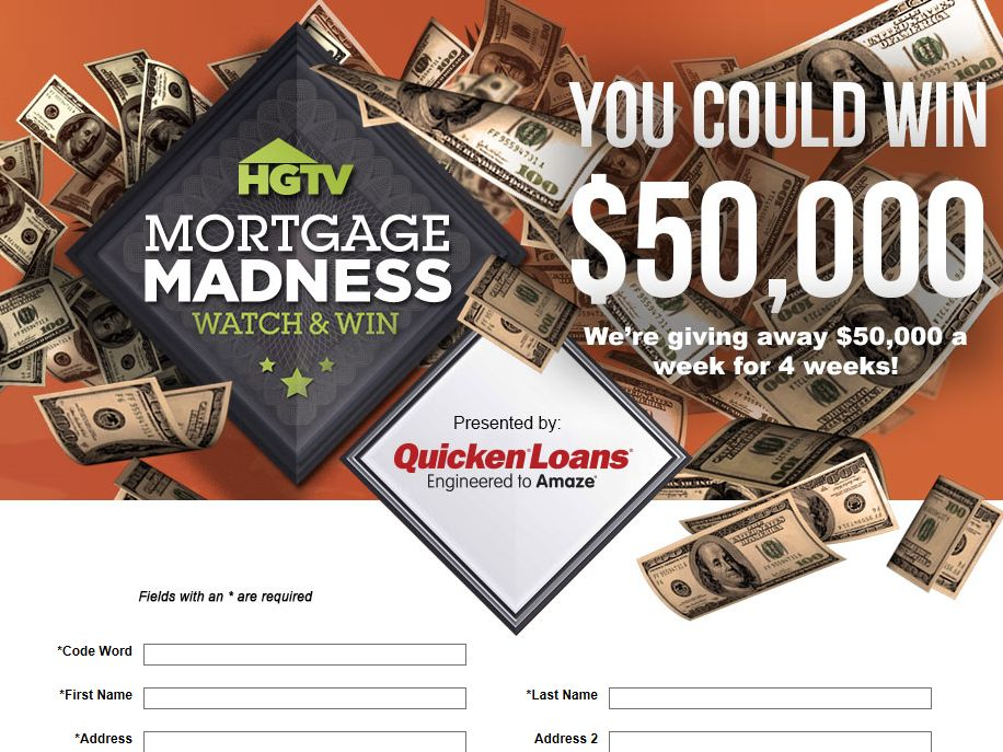 HGTV's Mortgage Madness Watch & Win Sweepstakes