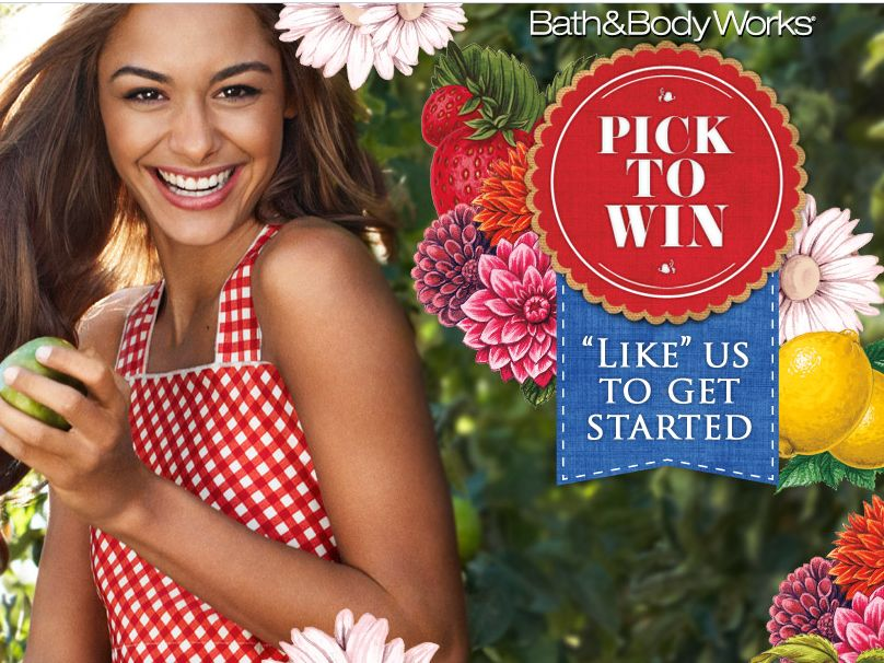 Bath & Body Works Pick To Win Sweepstakes