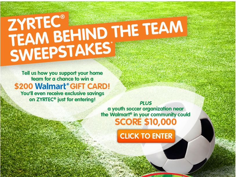 ZYRTEC Team Behind the Team Sweepstakes