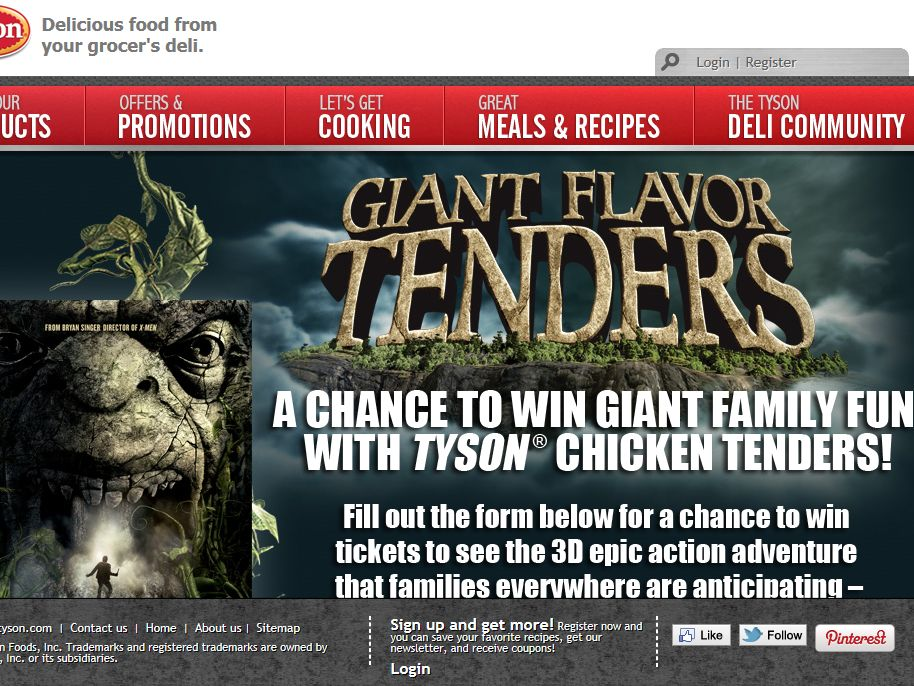 Tyson Chicken Tenders and Jack the Giant Slayer Movie Ticket Giveaway