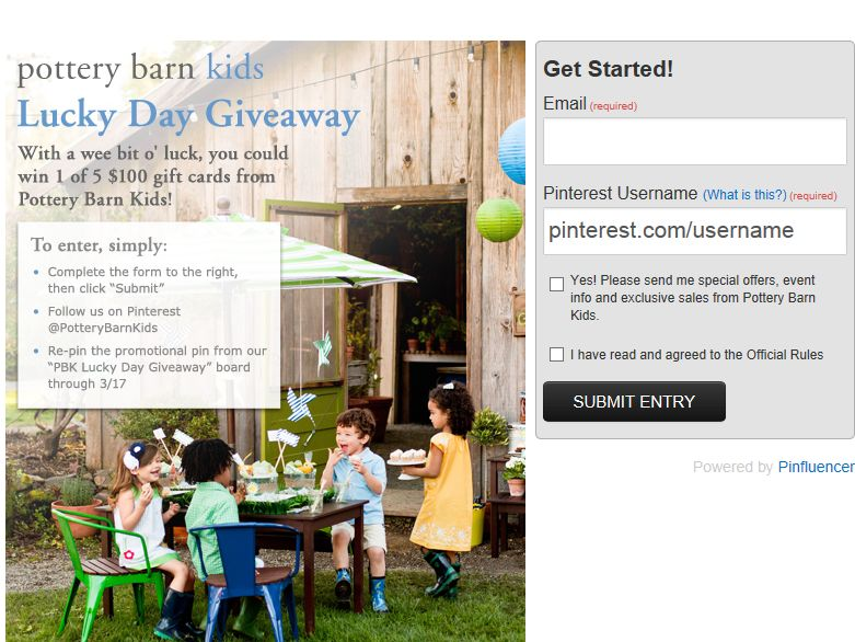 Pottery Barn Kids Lucky Day Giveaway