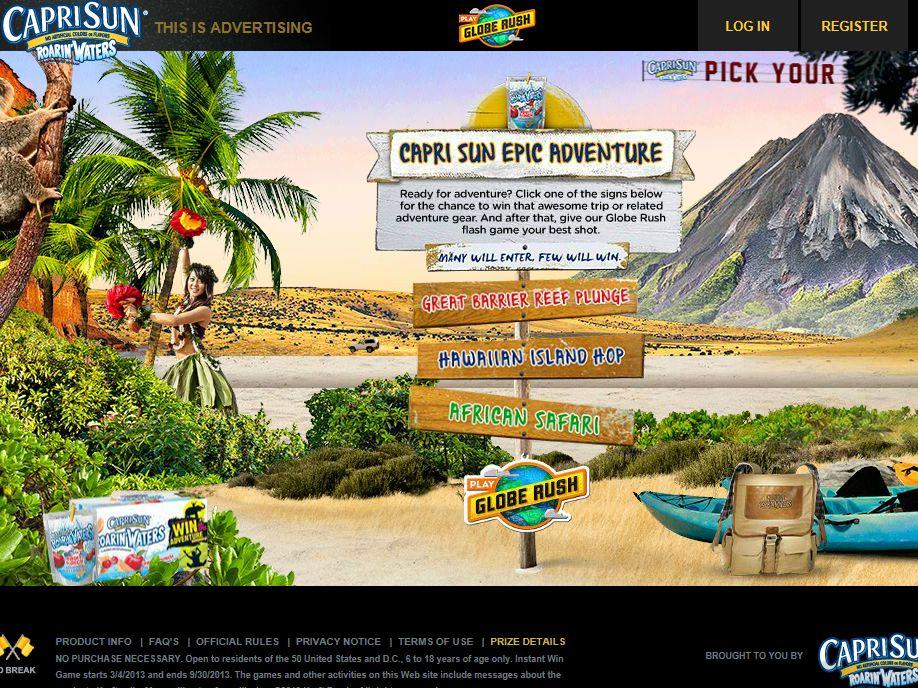 CapriSun Epic Adventure Instant Win Game