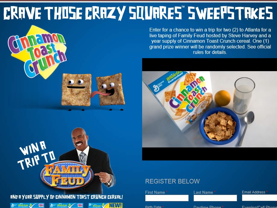 Crave Those Crazy Squares Sweepstakes