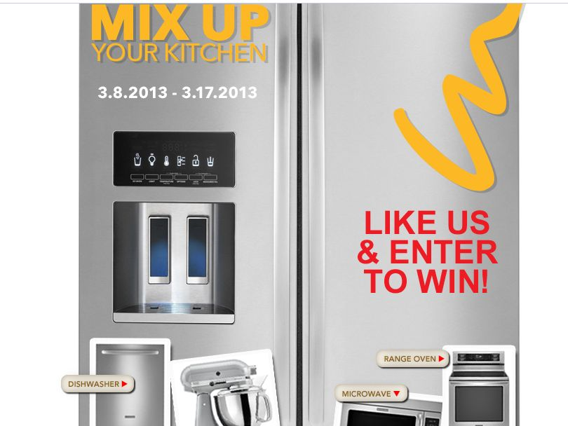 h.h. gregg Mix Up Your Kitchen Sweepstakes