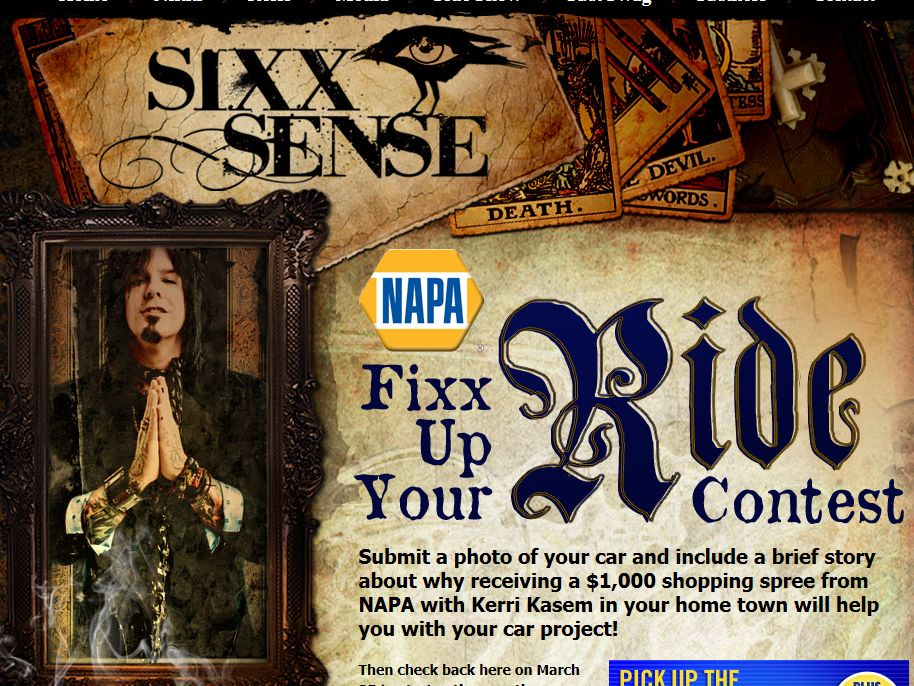 NAPA and Sixx Sense's Fixx Up Your Ride Contest