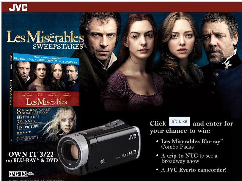 JVC's Les Misérables Sweepstakes
