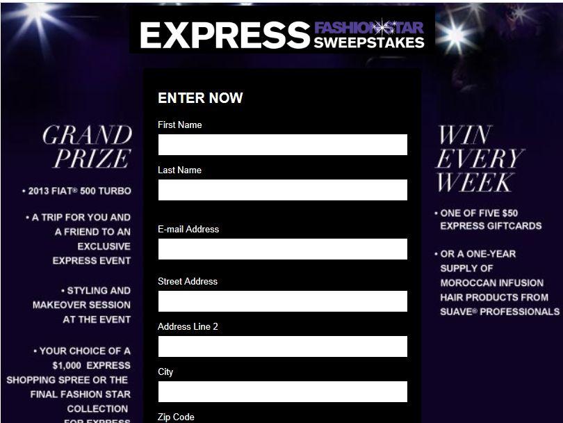 Express Fashion Star Sweepstakes