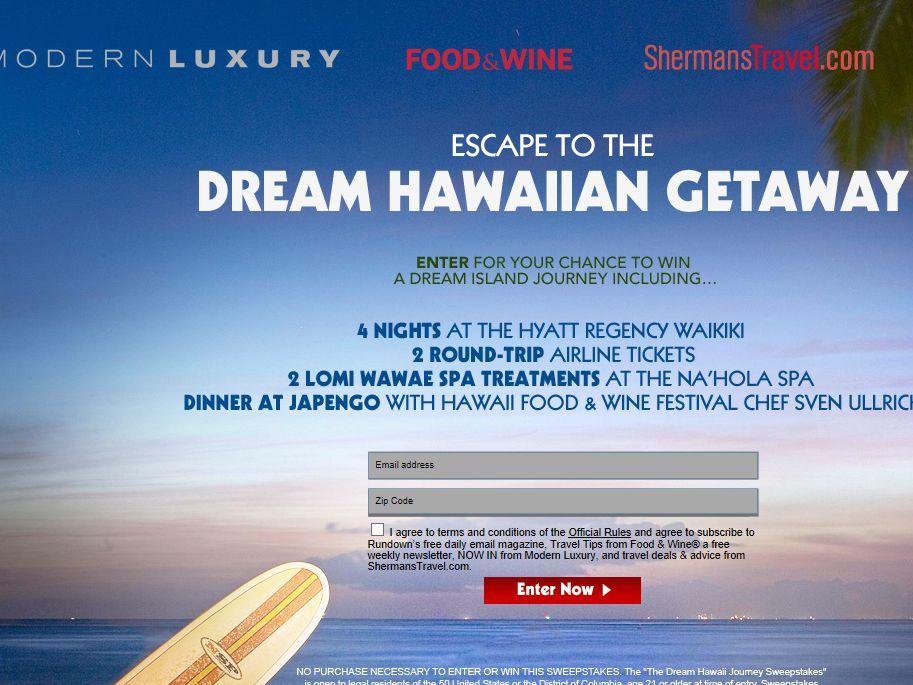 Dream Hawaiian Getaway Sweepstakes