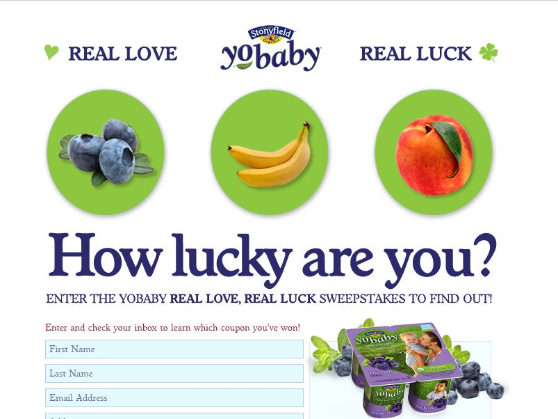 Real Love, Real Luck YoBaby Sweepstakes