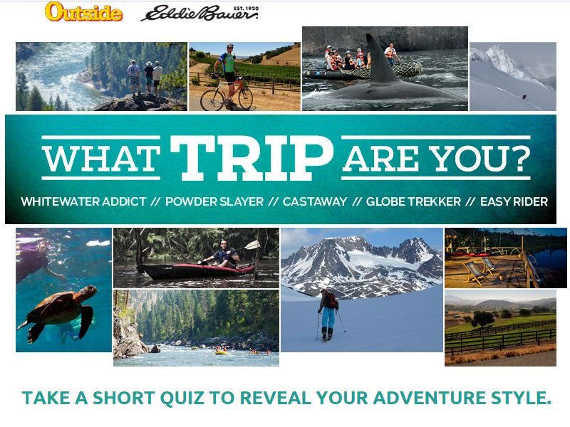 Outside Magazine What Trip Are You? Sweepstakes