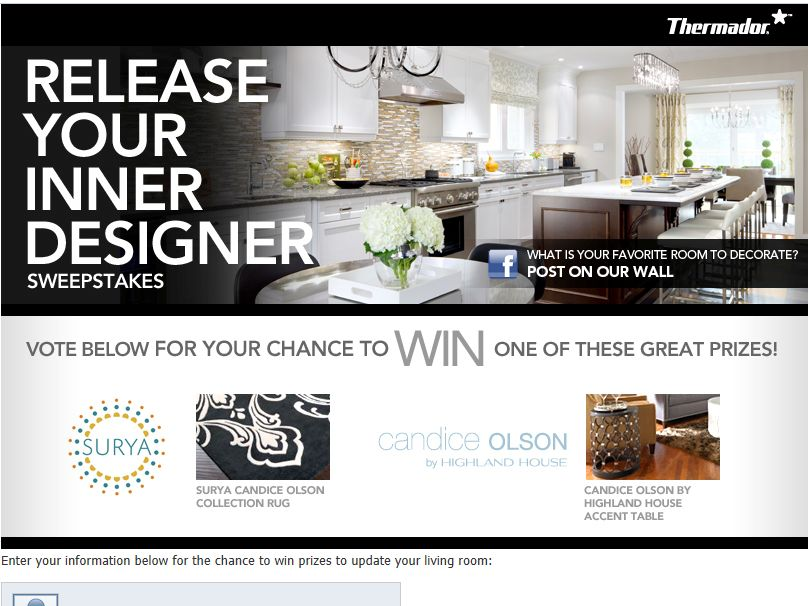Thermador Release Your Inner Designer Sweepstakes