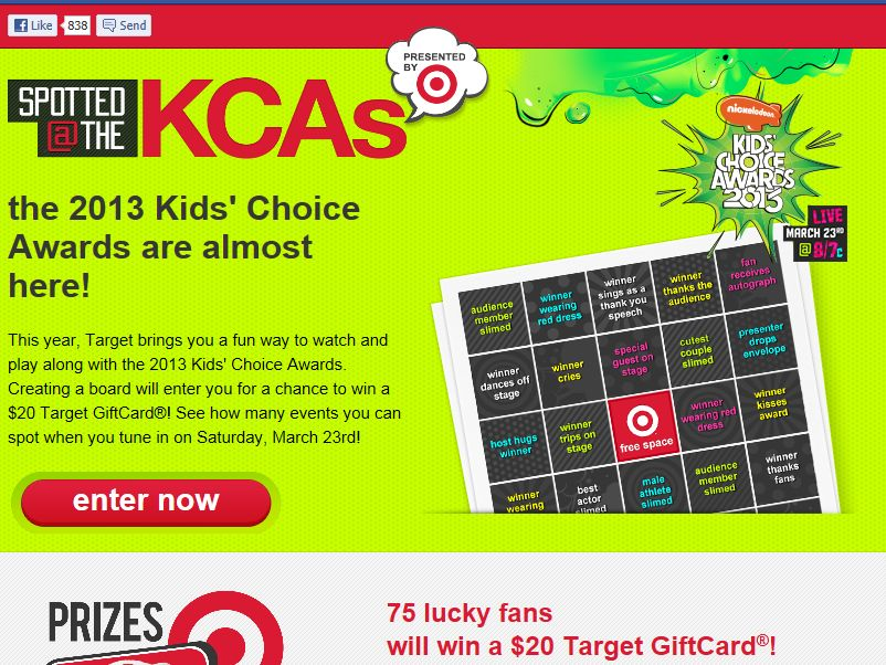 Target Spotted @ the KCAs Sweepstakes