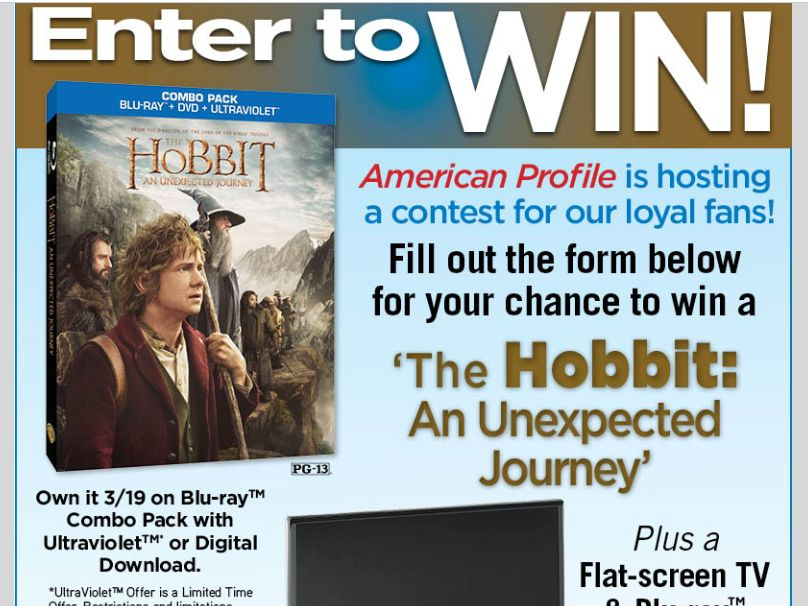 The Hobbit Sweepstakes
